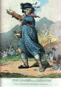 """The Leader of the Luddites,"" from Wikimedia Commons."
